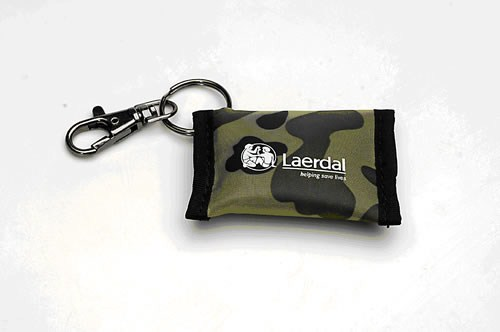 Face Shield Keyring Camouflage Pkt 25
